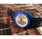 Vintage swiss manual winding watch VOGA 17 jewels Diver Blue