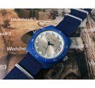 Reloj vintage suizo de cuerda VOGA 17 jewels Diver Blue