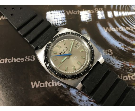 Reloj vintage suizo de cuerda FRANSENA 50 Aniversario 17 jewels Diver