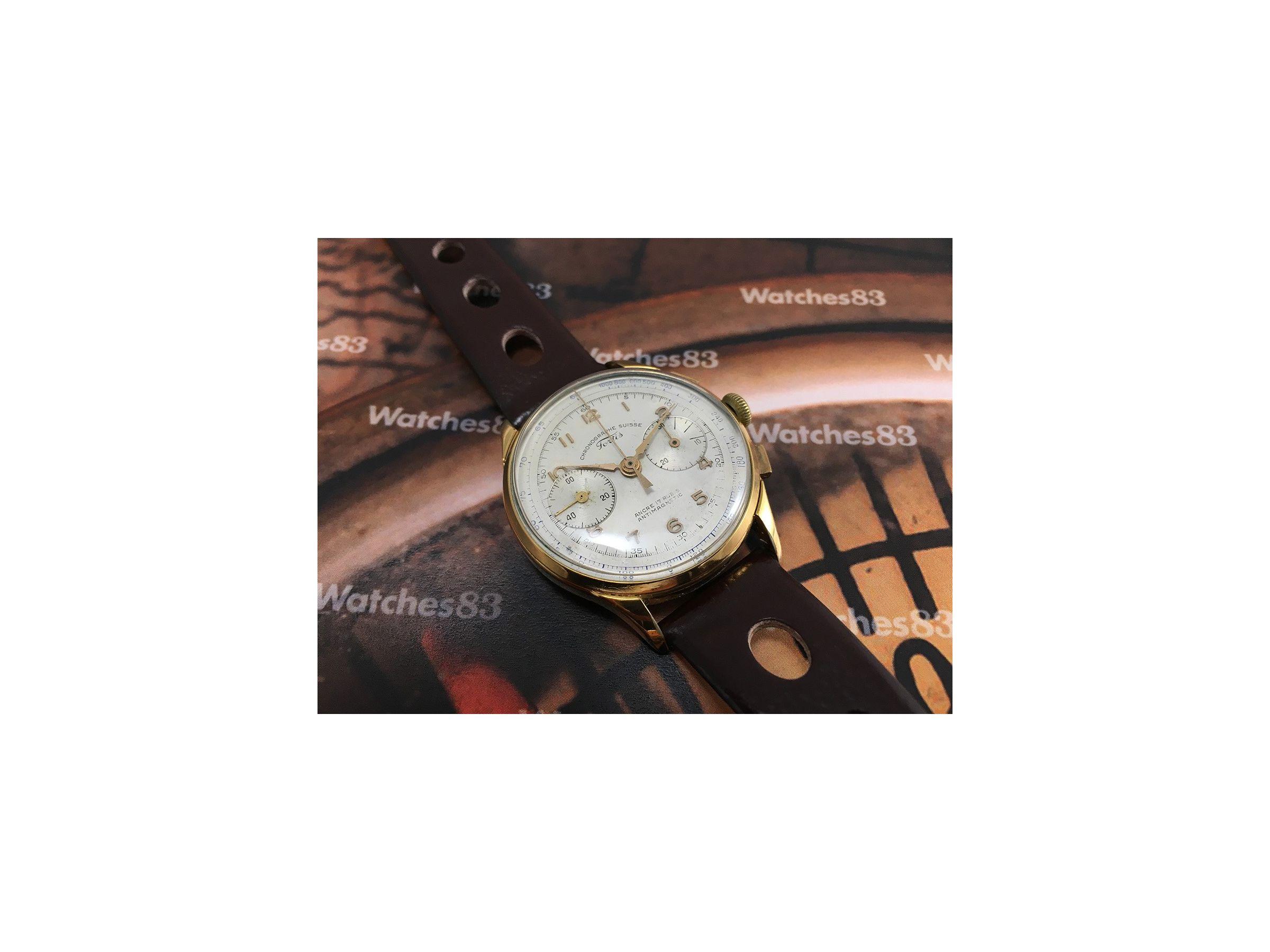 a1e489d414db ... Fortis vintage reloj de cuerda cronógrafo Chronographe Suisse      ESPECTACULAR    ...