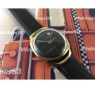 Vintage swiss watch Fortis True Line automatic Black dial