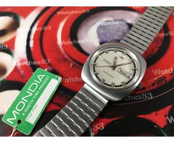 Mondia Moonlander Reloj suizo antiguo automático ESPECTACULAR *** NOS ***
