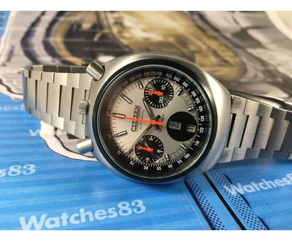 Reloj cronógrafo antiguo automático Citizen Chronograph Bullhead Automatic Cal 8110A JAPAN 23 jewels