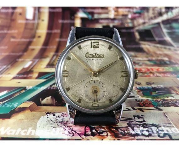 Reloj suizo antiguo de cuerda OMIKRON Gran diámetro 21 rubis Cal 1130