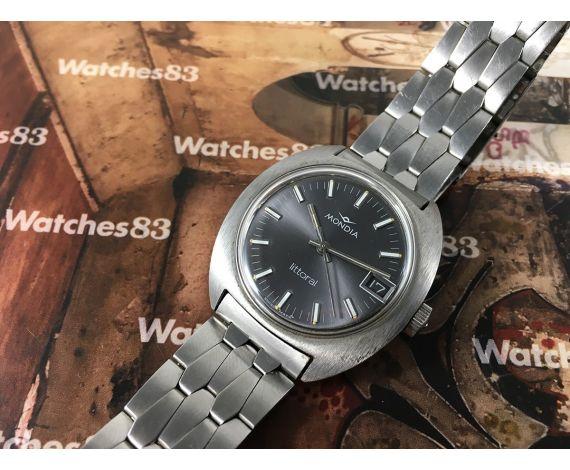 Mondia Littoral Reloj suizo antiguo de cuerda ESPECTACULAR *** NOS ***