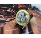 Technos vintage swiss hand winding watch *** Oversize 38,5 mm *** Plaqué OR