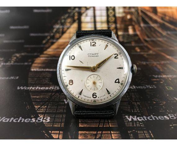 CTAPT reloj sovietico START antiguo de cuerda *** Oversize 36 mm *** 17 jewels