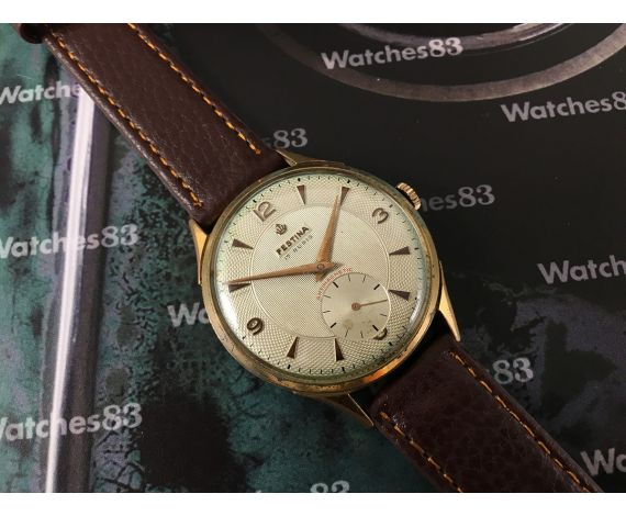 Reloj Festina suizo antiguo de cuerda 17 rubis *** OVERSIZE 38 mm ***