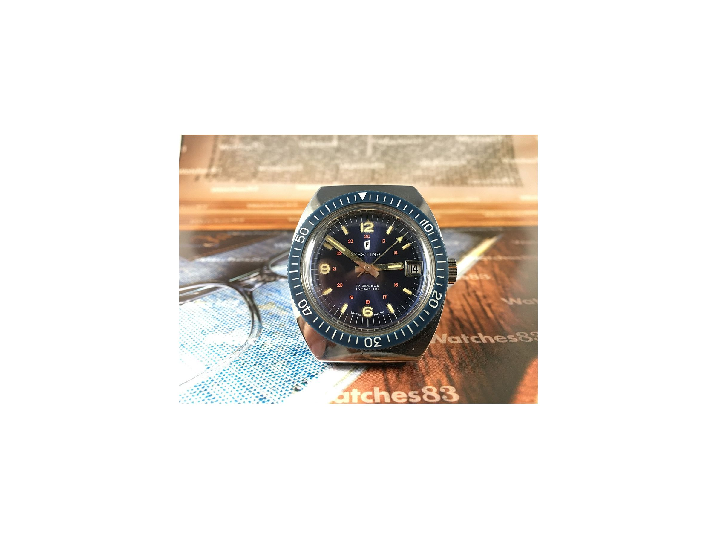 ... Festina diver vintage swiss watch manual winding *** SPECTACULAR ** ...