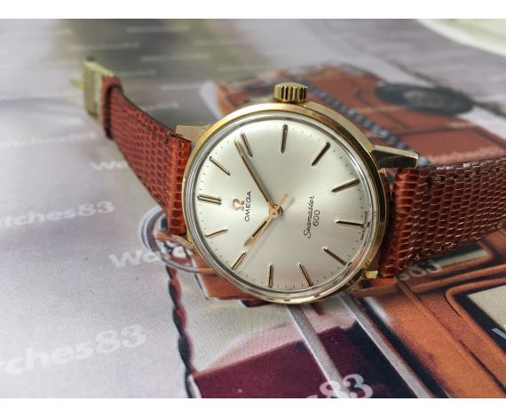 Omega Seamaster 600 vintage swiss manual winding watch Ref 135.011 Cal 601 Plaqué OR G 40 microns