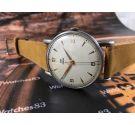 Reloj suizo antiguo de cuerda Fortis Watch LTD 38mm OVERSIZE 17 jewels