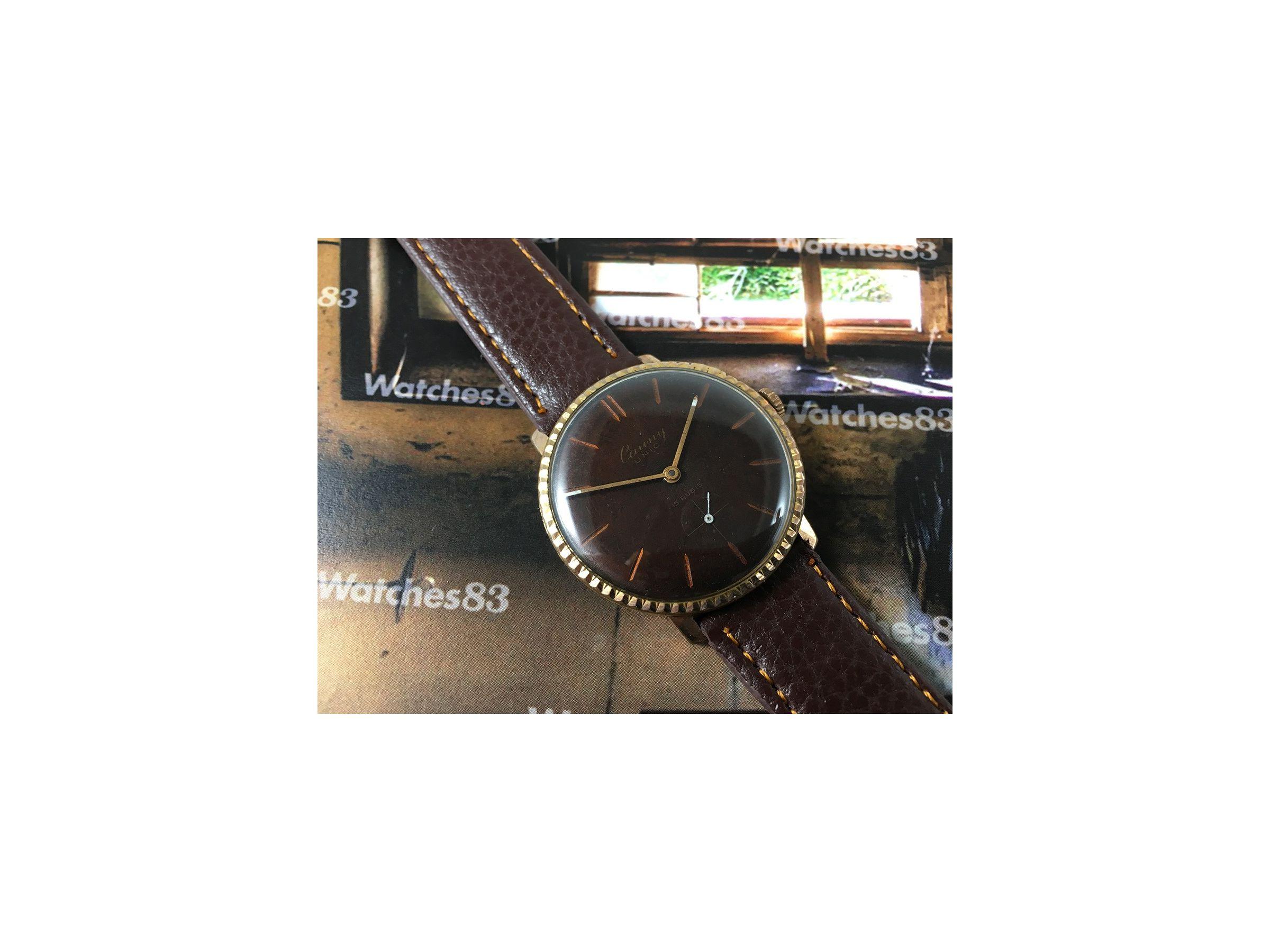 Reloj Suizo De Cuerda Antiguo Cauny Unic 15 Rubis Watches83