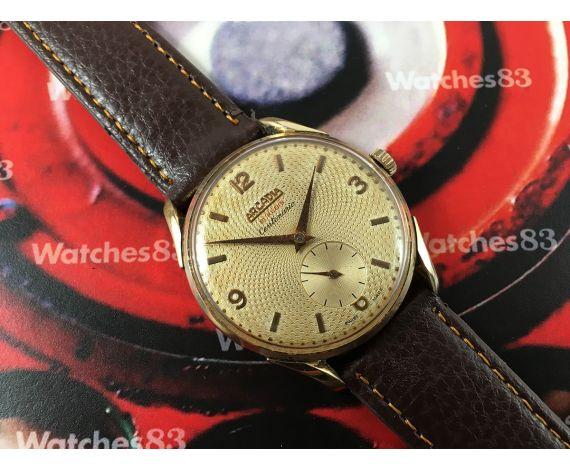 ARCADIA Centenario vintage swiss manual winding watch plaqué OR Oversize *** SPECTACULAR ***