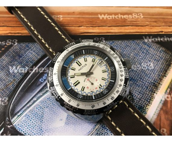 INCITUS vintage manual winding watch Diver GMT Wterproof OVERSIZE