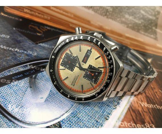 Seiko Kakume SpeedTimer Reloj cronógrafo antiguo automático Ref 6138-0030 JAPAN A