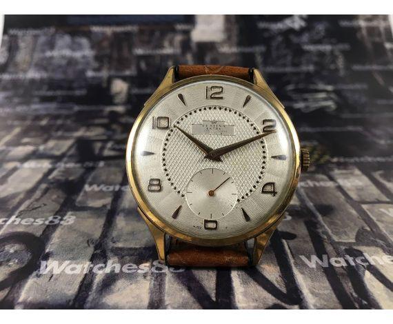 Festina Extra Reloj suizo antiguo de cuerda 17 jewels plaqué OR *** OVERSIZE ***