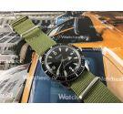 Sicura Submarine reloj vintage suizo de cuerda 23 jewels diver