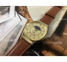 Reloj de cuerda suizo vintage Alex fase lunar y calendario