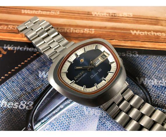 Enicar Sherpa 350 Reloj vintage suizo automático Cal Eta 2824-2 *** New old stock NOS ***