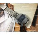 Satara Digital Reloj vintage suizo de cuerda salto de hora azul OVERSIZE