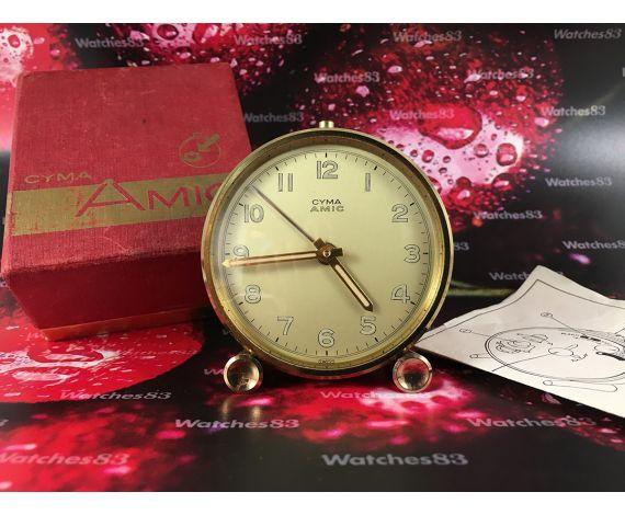 Cyma AMIC vintage swiss manual wind alarm watch 1956 + Box + Papers