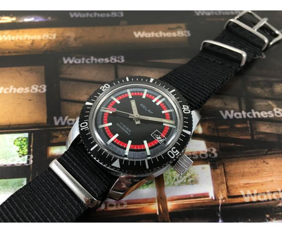 Relay vintage manual winding watch 17 Rubís Diver