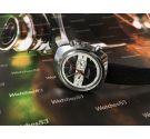 Reloj cronografo suizo antiguo de cuerda La Rochelle *** NOS New Old Stock ***