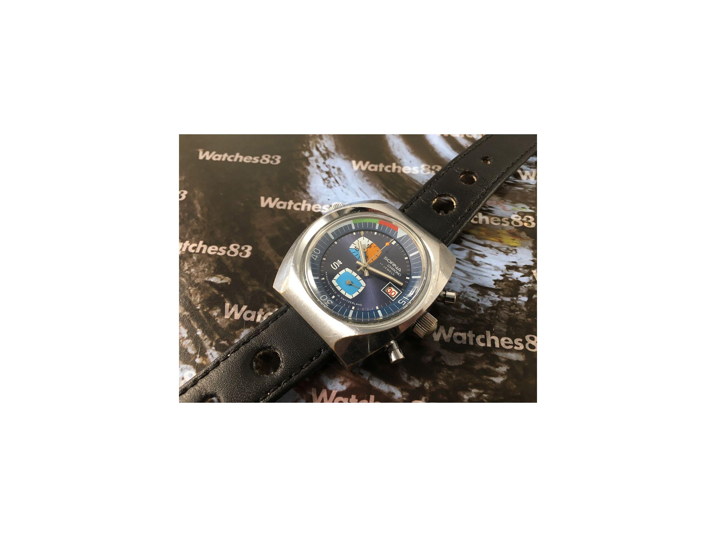 Sorna Antiguo Cuerda Manual Watches83 Reloj Cronógrafo De Crono PXkiuZO
