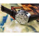 Vintage swiss watch Trafalgar Wrist Alarm Hand winding 17 jewels Large 41mm