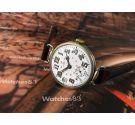 Omega ww1 Reloj suizo vintage oficial de trinchera de cuerda 1915 Dial porcelana COLECCIONISTAS Oversize