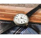 Reloj muy antiguo oficial de trinchera de cuerda 1920s Dial porcelana GIGANTE: 38,8 mm