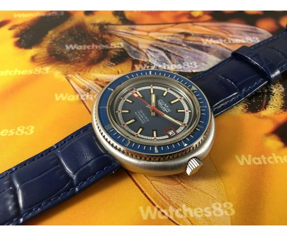 Comin Caribbean vintage swiss automatic watch 25 rubis DIVER OVERSIZE ** COLLECTORS **