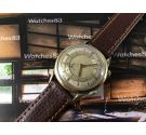 LeCoultre Memovox vintage swiss wrist alarm manual winding watch Plaqué OR Cal 489 *** COLLECTORS ***