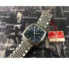 Omega vintage swiss automatic watch Blue Square *** NOS New Old Stock ***