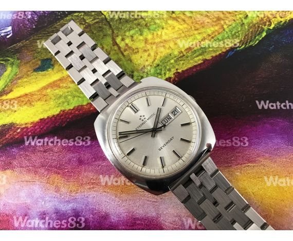 Eterna Matic Sevenday Vintage swiss automatic watch Oversize ** SPECTACULAR **