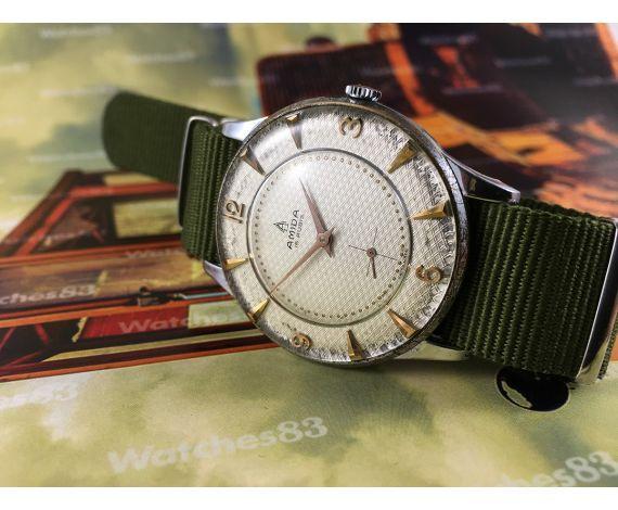 Amida old swiss manual winding watch Oversize 38,5 mm