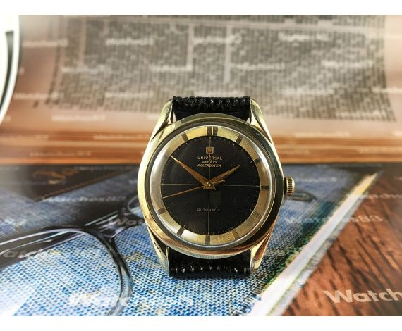 Polerouter Universal Geneve Bumper cal 138SS Reloj antiguo automático