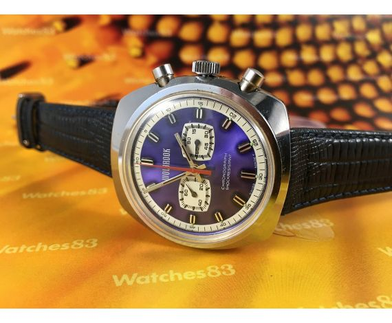 Wolbrook N.O.S. vintage swiss chronograph manual winding watch *** New old stock ***