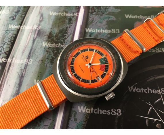 Tissot Sideral Vintage automatic watch ORANGE