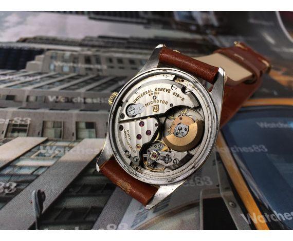 Universal Geneve Polerouter Microtor Cal 218-2 Reloj antiguo automático 28 jewels