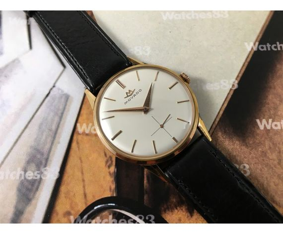 NOS Movado Reloj suizo antiguo de cuerda bañado en oro *** Nuevo de antiguo stock ***