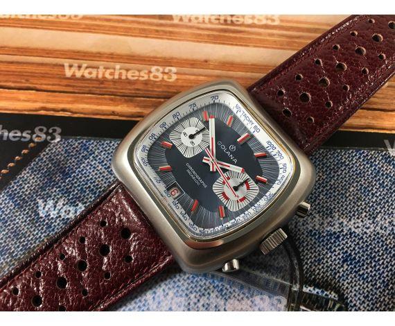 Golana Racing cronografo crono antiguo de cuerda Cal Valjoux 7734 *** Casi como nuevo ***