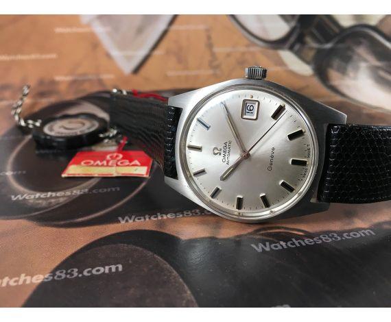 N.O.S. Omega Geneve Reloj vintage automatico cal 565 ref 166.041 *** Nuevo de antiguo Stock ***