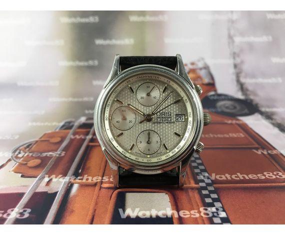 Oris Cronografo Automatic Winder Reloj suizo antiguo automático 17 jewels