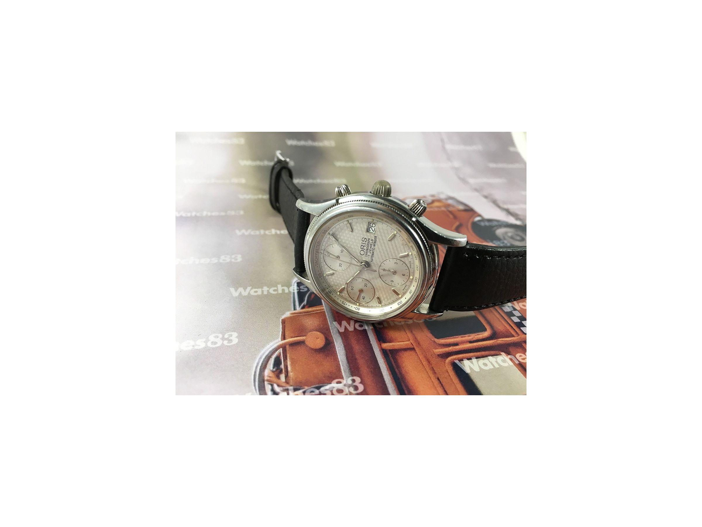 Good Watch Brands For Men >> Vintage swiss cronograph watch Oris Automatic winder 17 ...