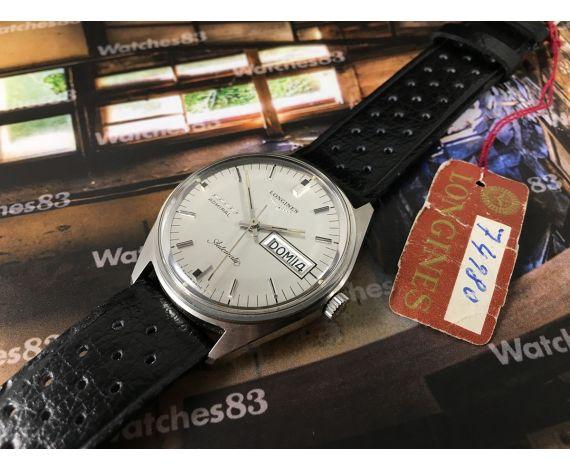 NOS Longines Admiral 5 stars Vintage reloj suizo automático Cal 503 NUEVO ANTIGUO STOCK