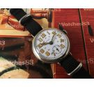 Patria (Omega) WW1 Vintage trench officer watch mechanical 1914/18 Porcelain dial COLLECTOR'S Oversize