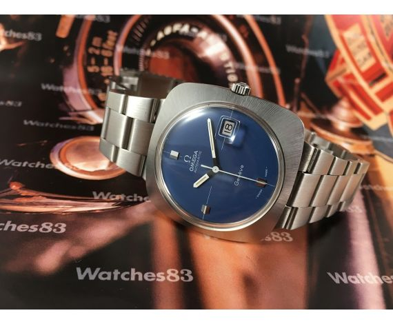 NOS Omega Geneve vintage automatic blue watch cal 565 New old Stock *** Only Collectors ***