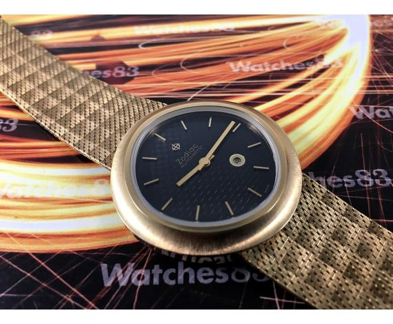 Zodiac automatic NOS Reloj suizo antiguo automático GRAN DIÁMETRO *** Nuevo de antiguo Stock ***