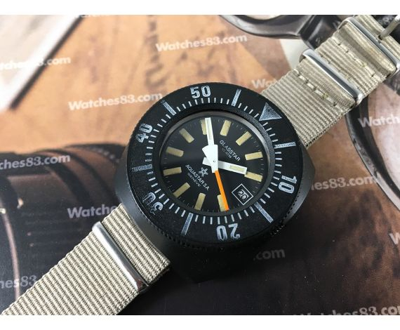 Aquastar SA Genève Glasstar Vintage swiss automatic watch 10 ATM Diver *** COLLECTORS ***